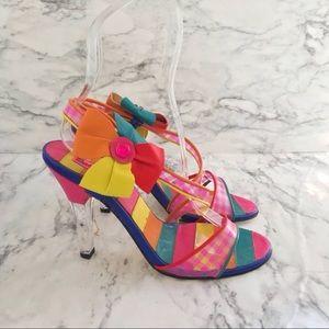Vintage Betsey Johnson Rainbow Heels